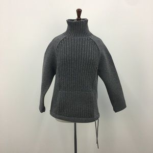J. Crew Gray Wool Knit Structured Sweater